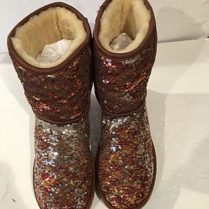 Women's Gold Ugg Boots size 8